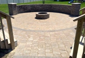 Concrete Patio & Privacy Wall Des Moines