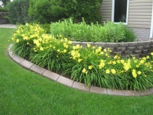 Flowerbed Concrete Edging Project Des Moines